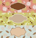 Set of cute floral banners Royalty Free Stock Image