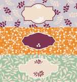 Set of cute floral banners Royalty Free Stock Photo