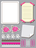 Set of cute flower elements for scrapbook Royalty Free Stock Photo