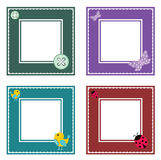 Set of cute frame Stock Photography