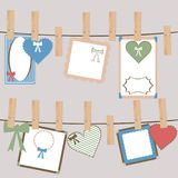 Set of cute frames for girls Royalty Free Stock Images