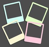 Set of cute frames for photos, hand drawn style Royalty Free Stock Photography