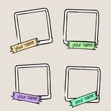 Set of cute frames for photos, hand drawn style Stock Photography
