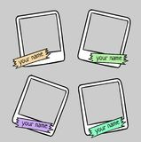Set of cute frames for photos, hand drawn style Royalty Free Stock Photos