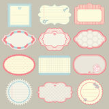 Set of cute frames Stock Photography