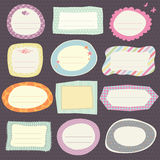 Set of cute frames. Vector illustration stock illustration