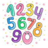 Set of cute and funny colorful smiling number Royalty Free Stock Photography