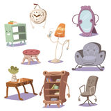 Set of cute furniture Royalty Free Stock Photos