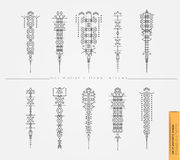 Set of cute Geometric trendy hipster arrows Stock Photography