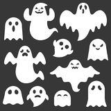 Set of cute ghost creation kit Royalty Free Stock Photography