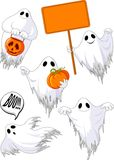 Set of cute ghosts stock illustration