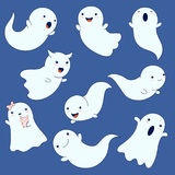 Collection of cute ghosts Royalty Free Stock Photos