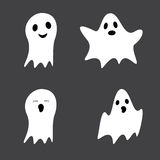 Set of cute ghosts Stock Photos