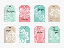 Set of cute gift  tag Royalty Free Stock Images