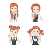 Set of cute girls. Stock Photography