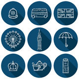 Set of cute hand drawn outline cartoon objects on Stock Images