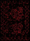 Set of cute heart shapes on grunge background Royalty Free Stock Photography