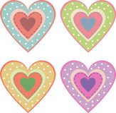 Set of cute hearts Stock Photos
