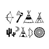 A set of cute hipster arrows, hand drawn doodles Stock Images
