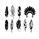 A set of cute hipster arrows, hand drawn doodles royalty free illustration
