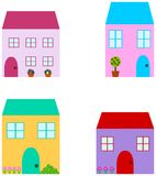 Set of cute house stock illustration