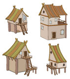 Set of cute  houses for you design and computer game Stock Images