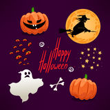 Set of cute icons for Halloween - 2 Royalty Free Stock Image