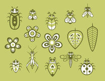 Set of cute insect Stock Photo