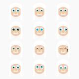 Set of cute judge emoticons. vector illustration