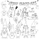 Set of Cute little elves Royalty Free Stock Image