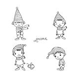 A set of cute little gnomes. Royalty Free Stock Photos