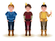 Set cute little prince Royalty Free Stock Photo