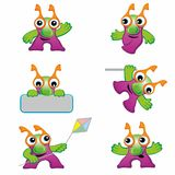 Set of cute monster Royalty Free Stock Photo