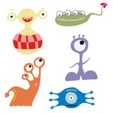 Set of cute monsters Stock Images