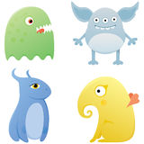 Set of cute monsters Royalty Free Stock Photography