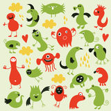 Set of cute monsters Royalty Free Stock Images
