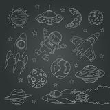 Set of cute outer space elements Stock Images
