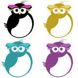 Set of Cute Owls Stock Photos