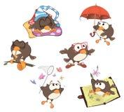 Set of cute owls for you design.  Cartoon Stock Photo