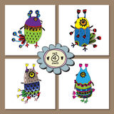 Set of cute owls for your design. Stock Photos