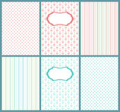 Set of cute pastel cards. Templates of kids postcard, can use for baby shower invitations. Stock Photos
