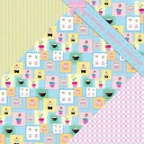 Set of cute patterns Royalty Free Stock Photo
