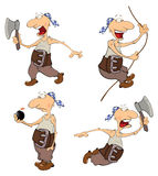 Set of cute pirates for you design. Cartoon Royalty Free Stock Photo