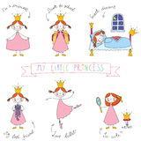Set of cute princesses Royalty Free Stock Images