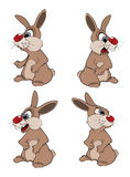 Set of cute rabbits for you design cartoon Stock Photo