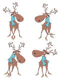A set of cute reindeer cartoon Stock Photography
