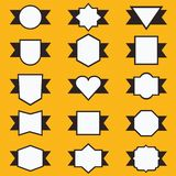 Set of cute ribbon and labels in geometrical shape Royalty Free Stock Photo