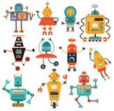 Set cute robots Stock Image