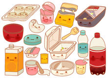 Set of Cute Rubbish. Vector file EPS10 Royalty Free Stock Photo