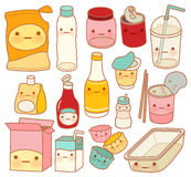 Set of Cute Rubbish. Vector file EPS10 stock illustration